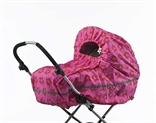 Raincover stroller Pink with red flowers