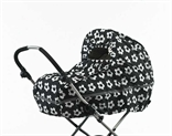 Raincover stroller Black with white flowers